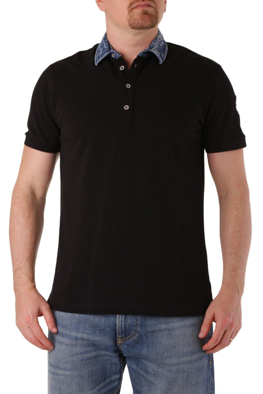 Diesel Men's Polo Shirt Various Colours 283901 - black-2 S