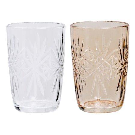 Lyslykt Glass 6,5x9,5 cm Usortert - Stykkevis