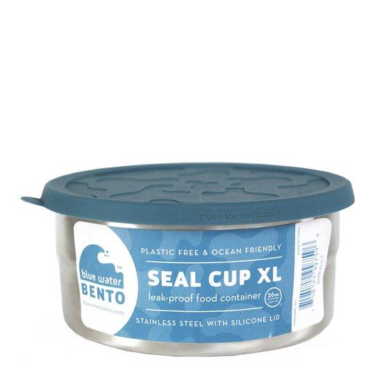 ECOlunchbox - Eco Seal Cup Rund burk XL 15,5 cm Blå