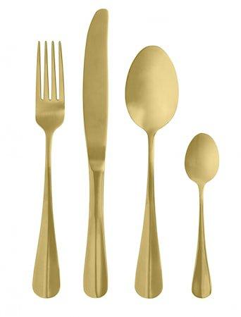 Gullbestikk sett 4 deler Gull