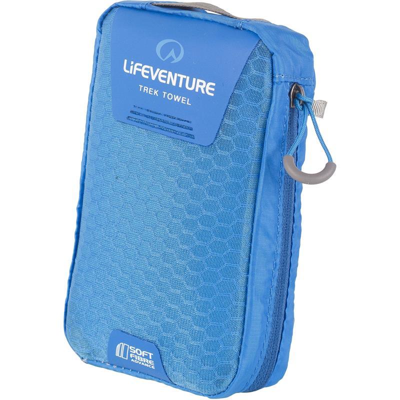 Lifeventure Soft Fibre Trek Towel L Kompakt turhåndkle, blå
