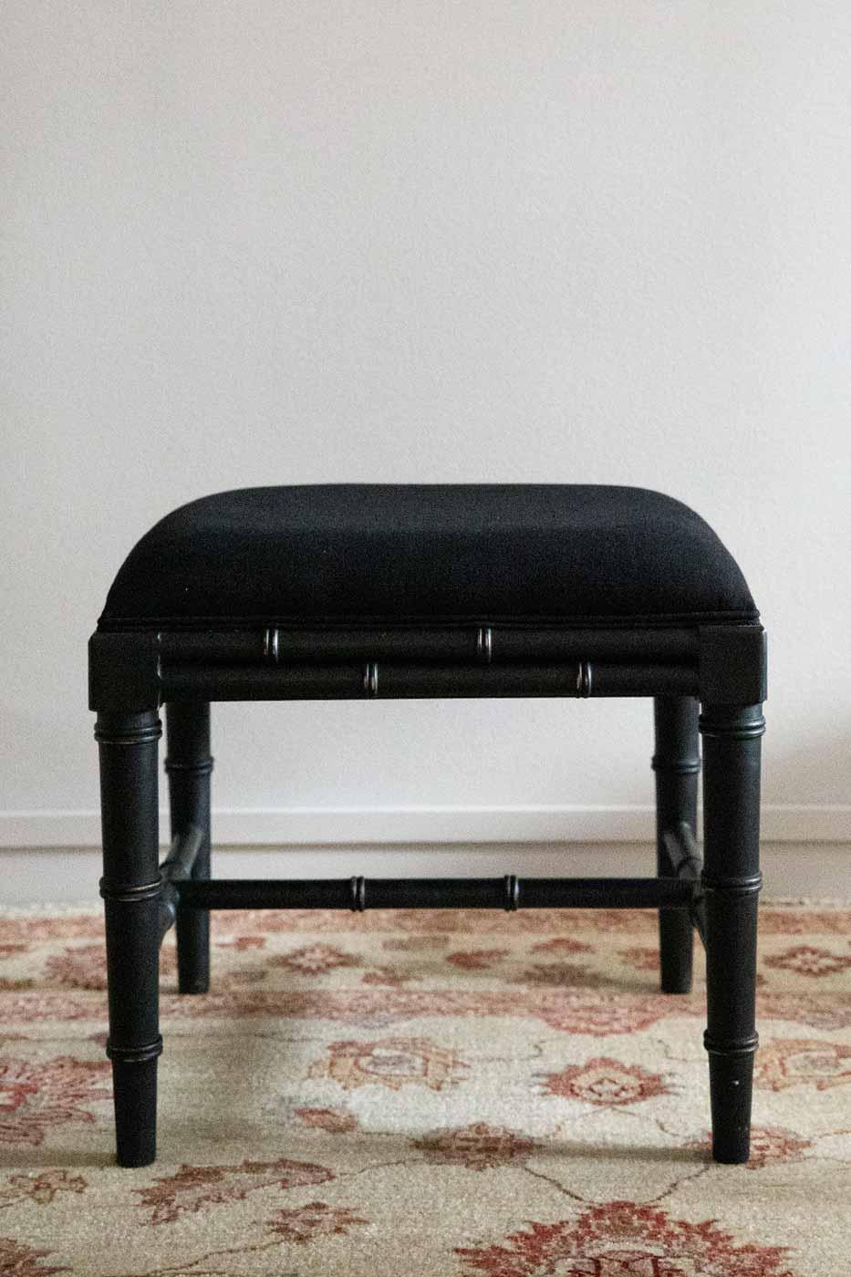 Pall bambu 50 x 45 svart
