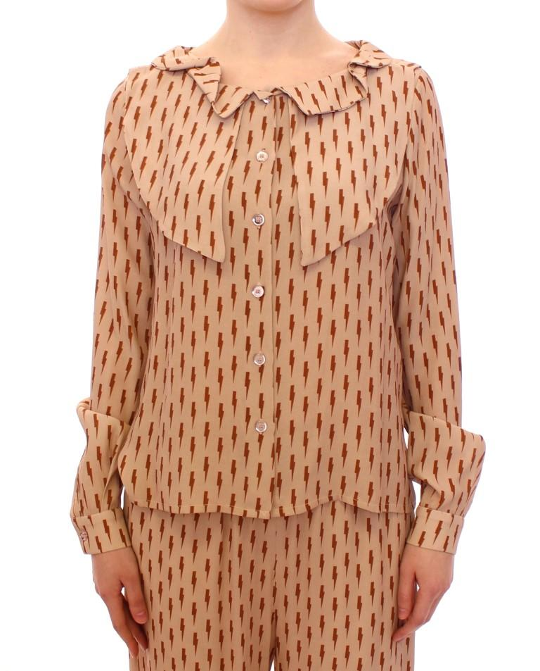 Licia Florio Women's LS Button Front Top Pink MOM10100 - IT42|M