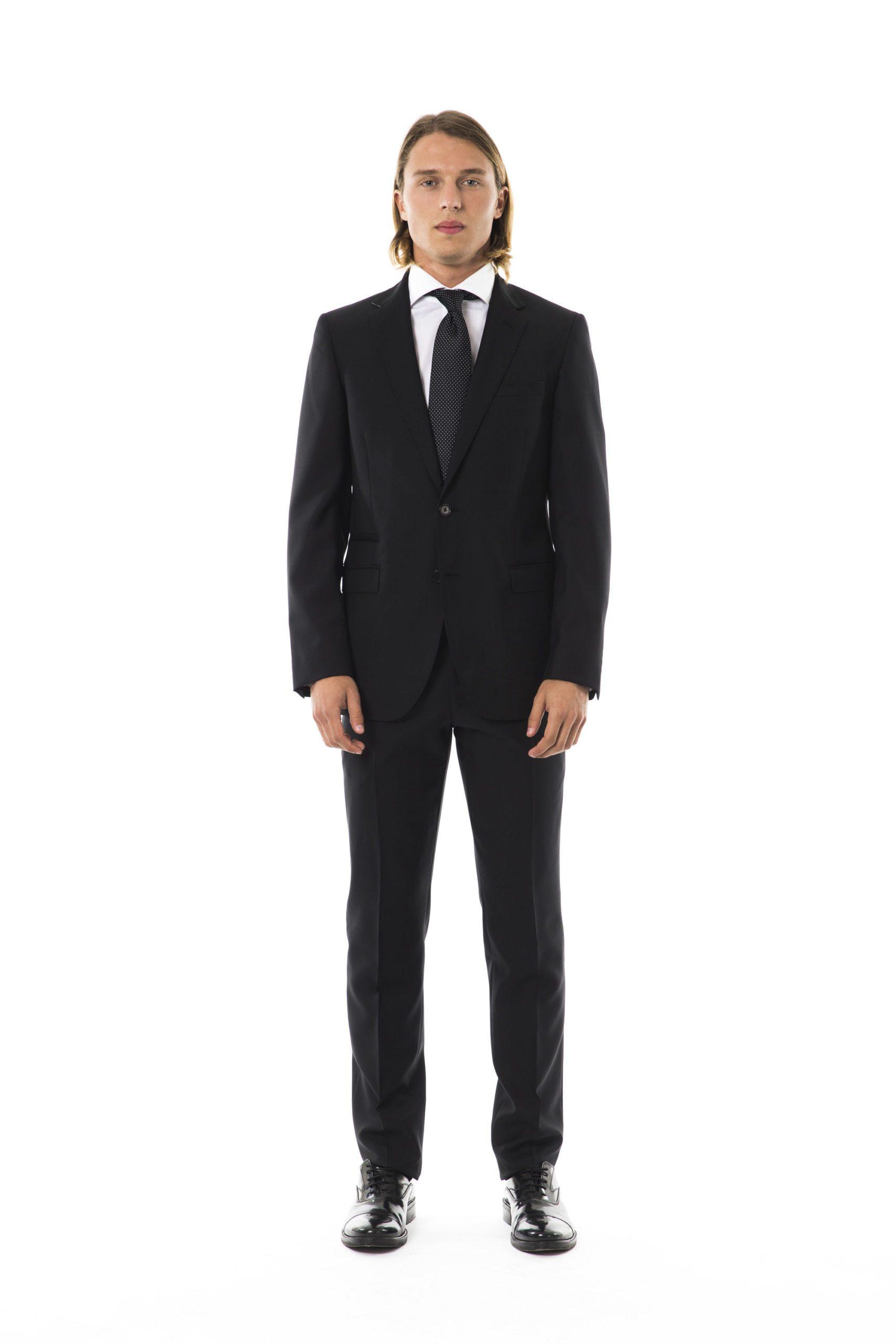 Uominitaliani Men's U Suit Black UO992350 - IT50 | L