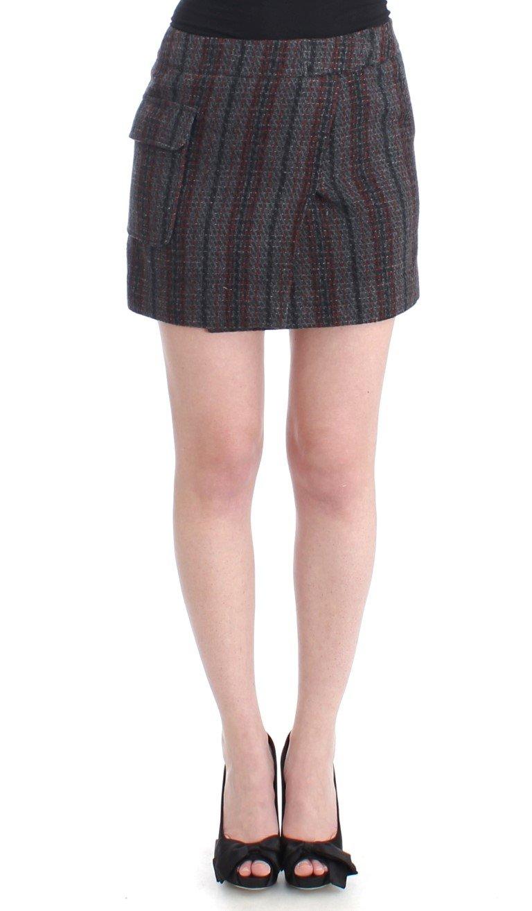 Costume National Women's Wool Mini Skirt Gray SIG11642 - IT40 S