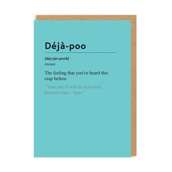 Deja-poo Greeting Card