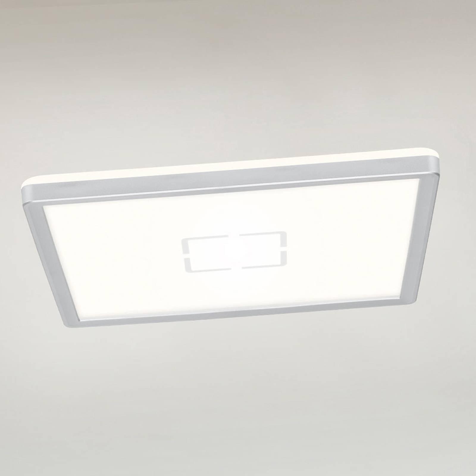 LED-kattovalaisin Free, 29 x 29 cm, hopea