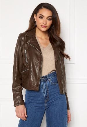 JOFAMA Kaley Leather Biker Brownie 32