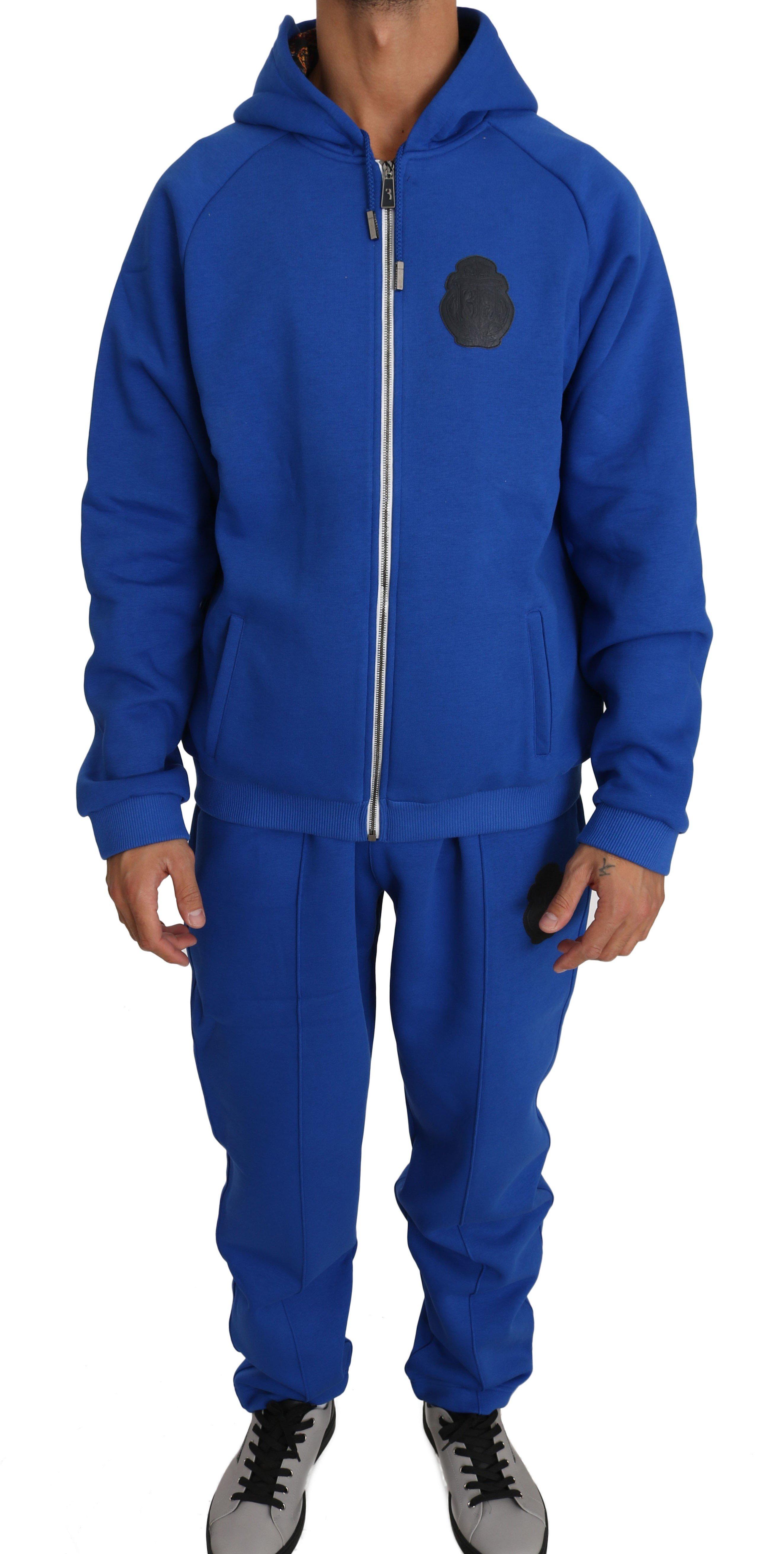Billionaire Italian Couture Men's Tracksuit Blue BIL1037 - XL
