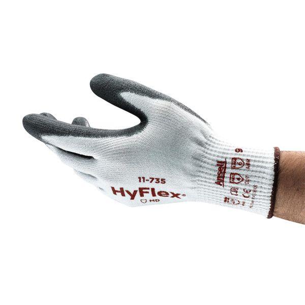Ansell HyFlex 11-735 Hanske Skjærebeskyttelse, PU, Intercept/nylon Str. 6