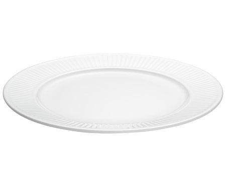 Plissé tallerken flat hvit, Ø 31 cm