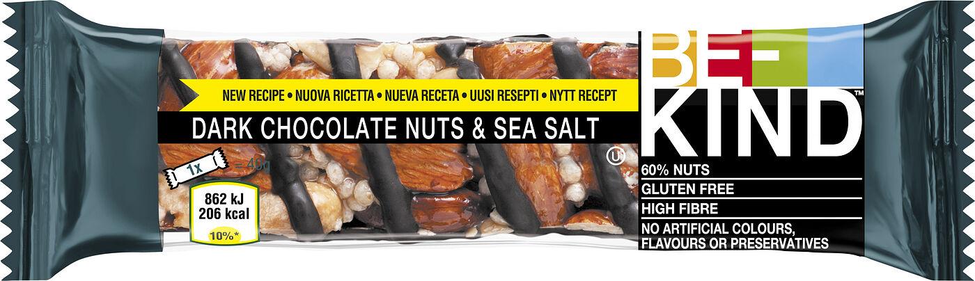Be-Kind Dark Choco Nuts & Sea Salt 40g