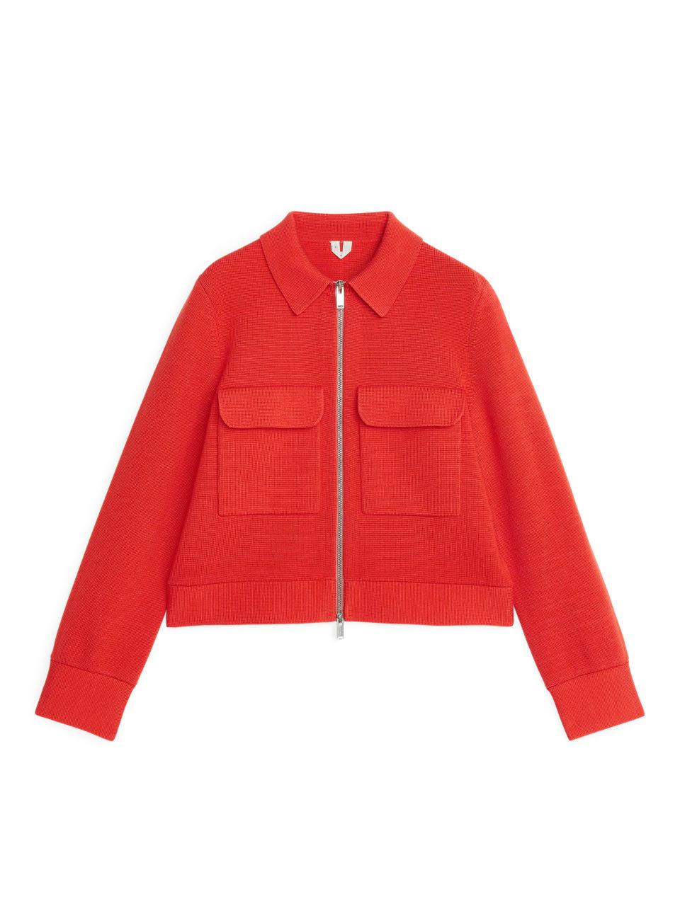 Merino & Cotton Box Jacket - Orange