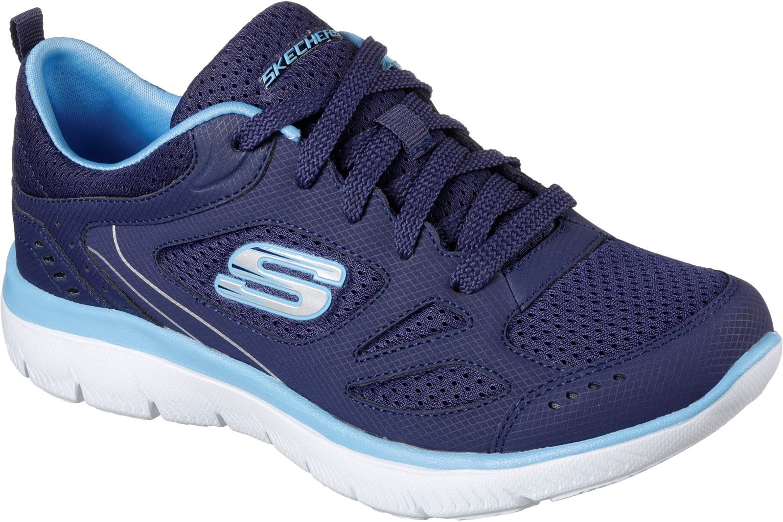 Skechers Women's Summits Suited Lace Up Trainer Multicolor 31941 - Navy/Blue 3
