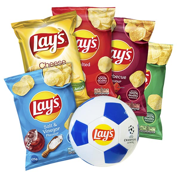 Lay's 5 påsar + Fotboll