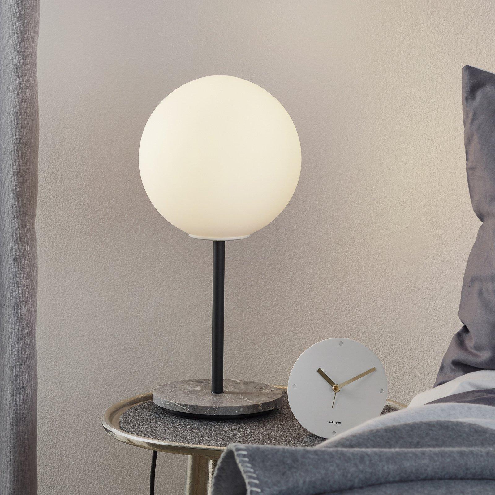 Menu TR Bulb bordlampe 41 cm marmor/opal matt