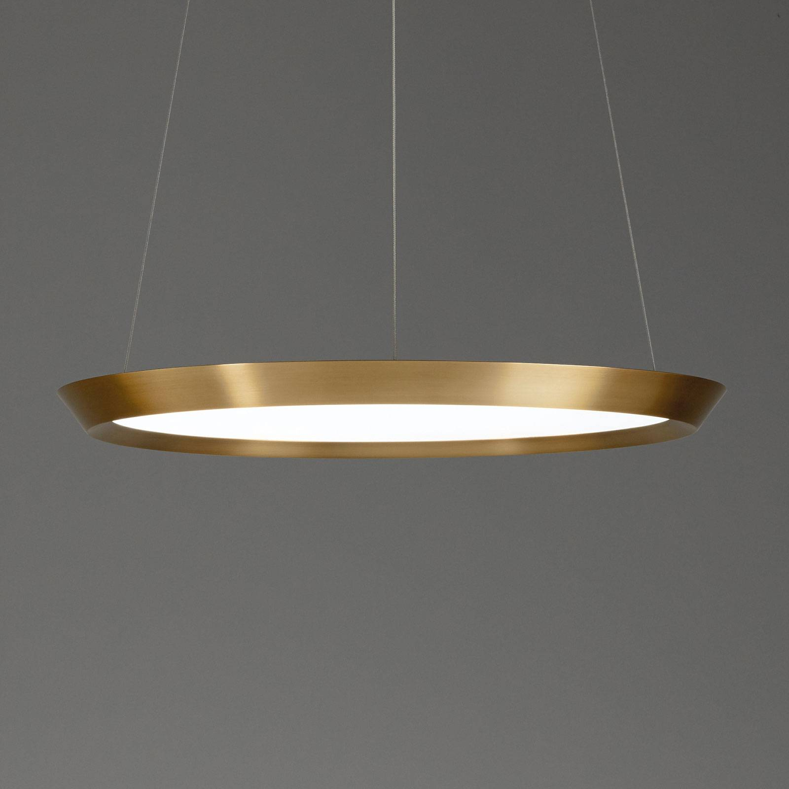 Grok Saturn -LED-riippuvalaisin, messinki, Ø 60 cm