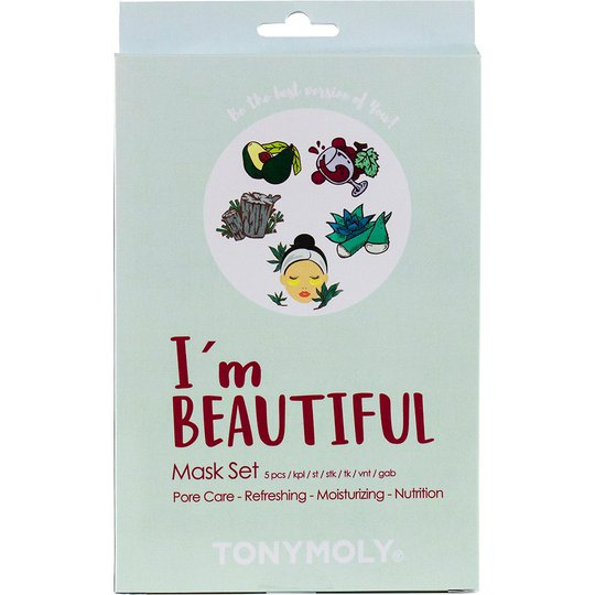 I'm Beautiful Mask Set, 5 pcs Tonymoly Ihonhoitopakkaukset
