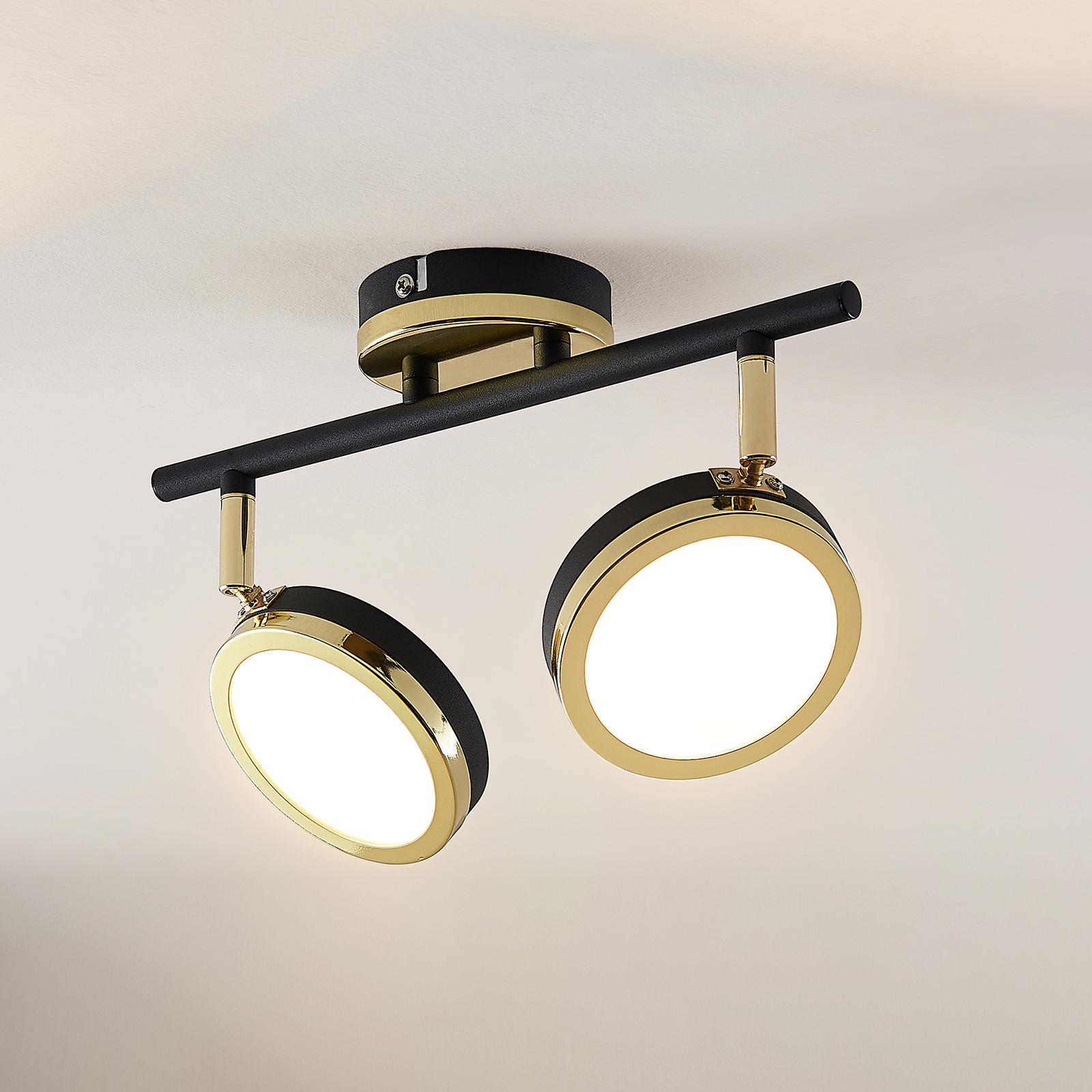 Lindby Alsani -LED-kattokohdevalo 2-lamppuinen