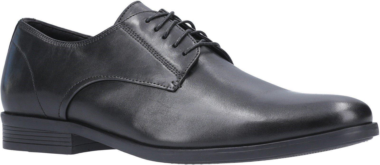 Hush Puppies Men's Oscar Clean Toe Lace Up Shoe Various Colours 29189 - Black 6