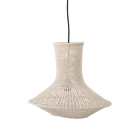 Lampeskjerm Bomull Natur Avlang