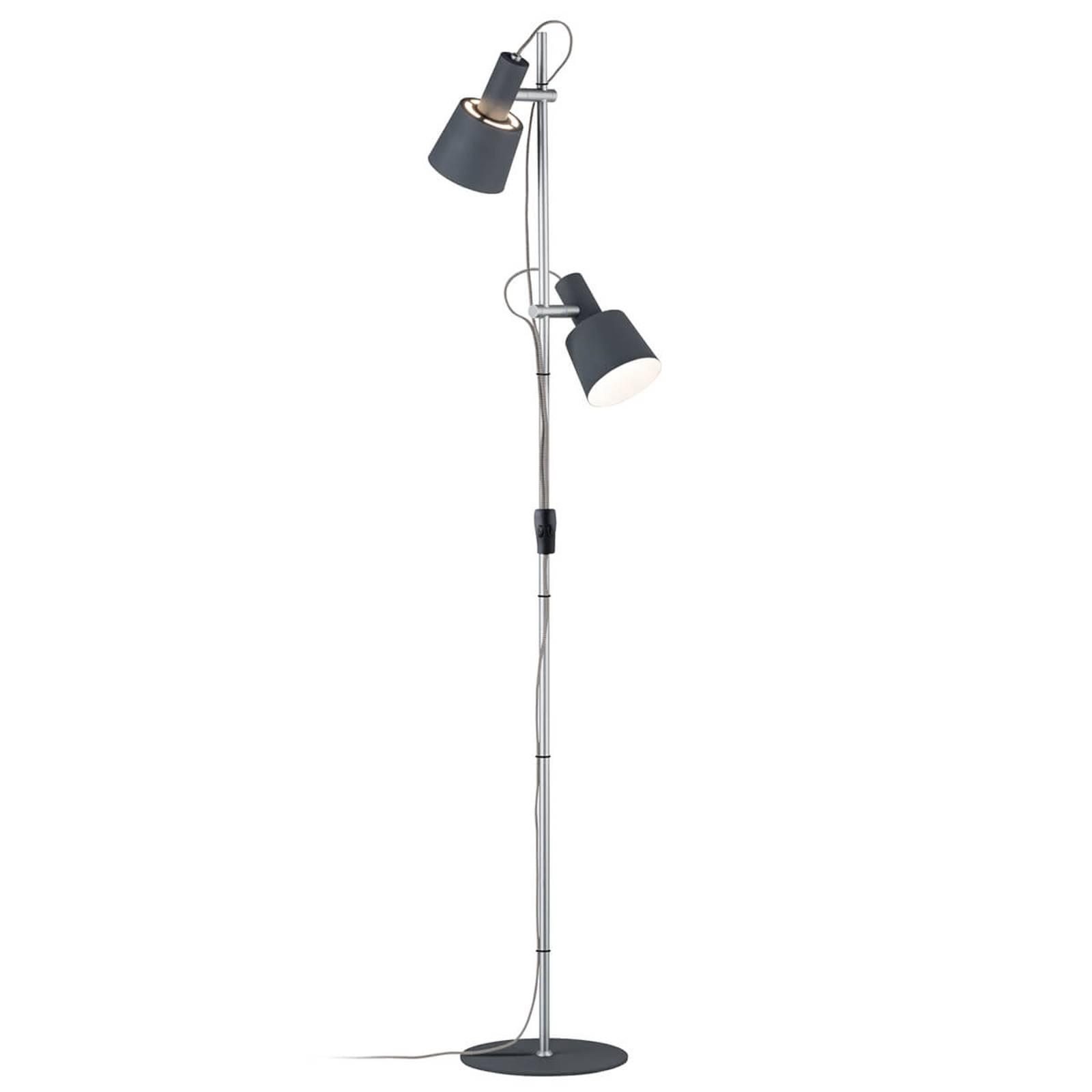 2-lamppu-lattiavalaisin Haldar, väriyhdistelmänä