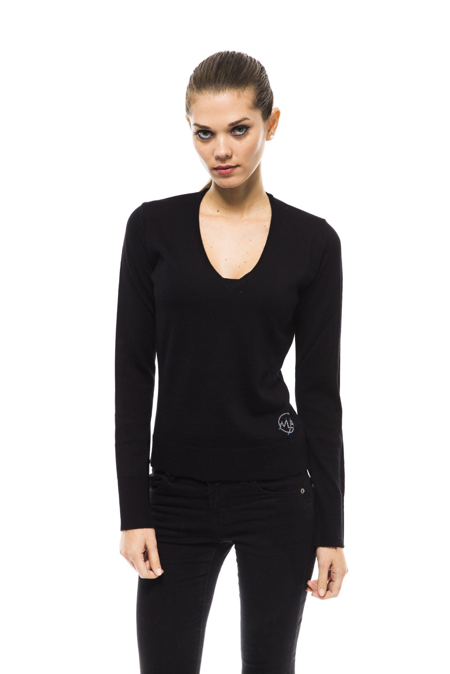 Montana Blu Women's Nero Sweater Black MO1191325 - IT40 | XS