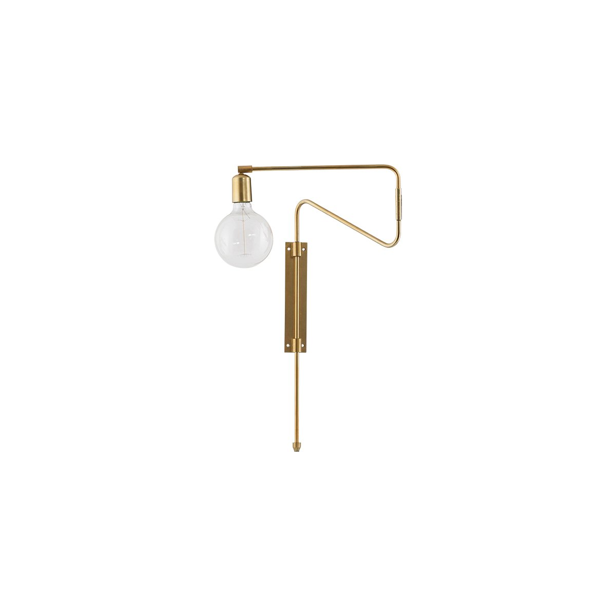 House Doctor - Swing Wall Lamp Small - Brass (cb0212/203660212)