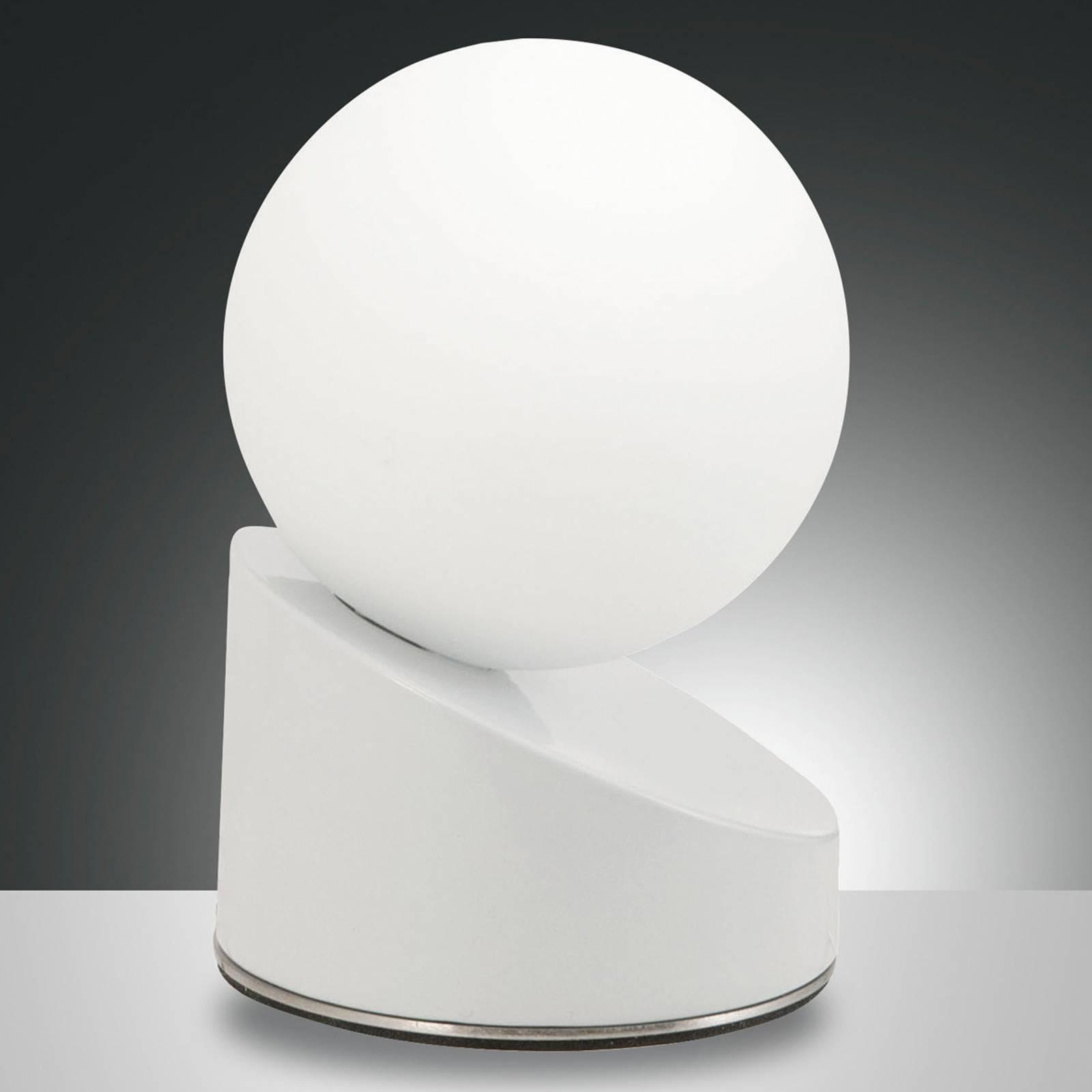 Tyylikäs Gravity-LED-pöytävalaisin, valkoinen