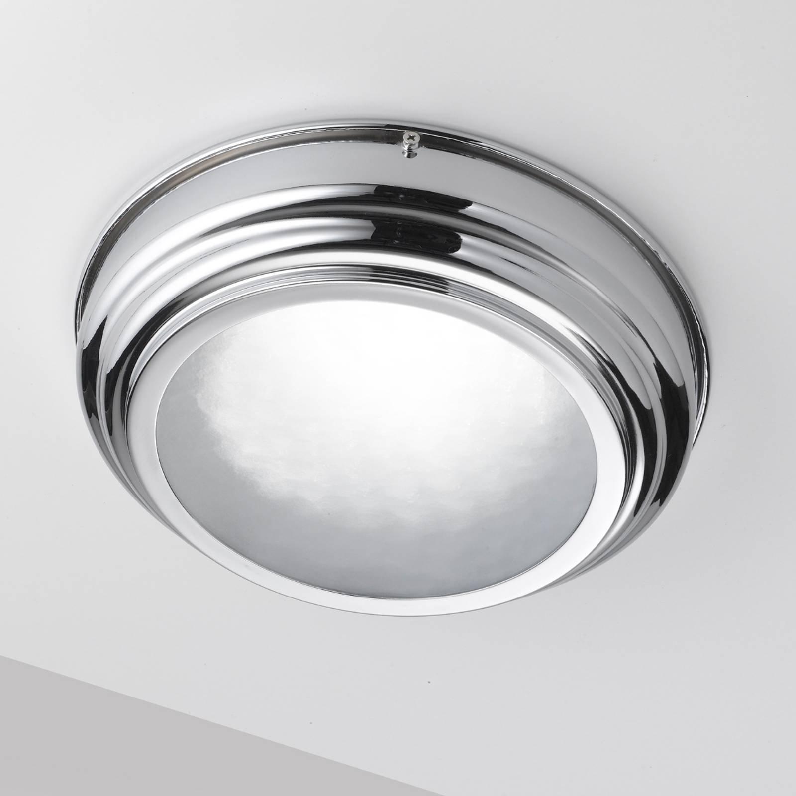 LED-taklampe med Scirocco 39 cm, krom blank
