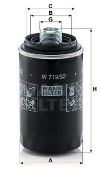 Öljynsuodatin MANN-FILTER W 719/53