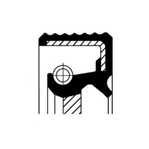 Oljepackningsring, differential, Framaxel, Tvåsidig, Höger, Utgång