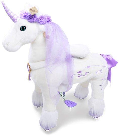 PonyCycle Ride-On Hest Premium Stor, Hvit