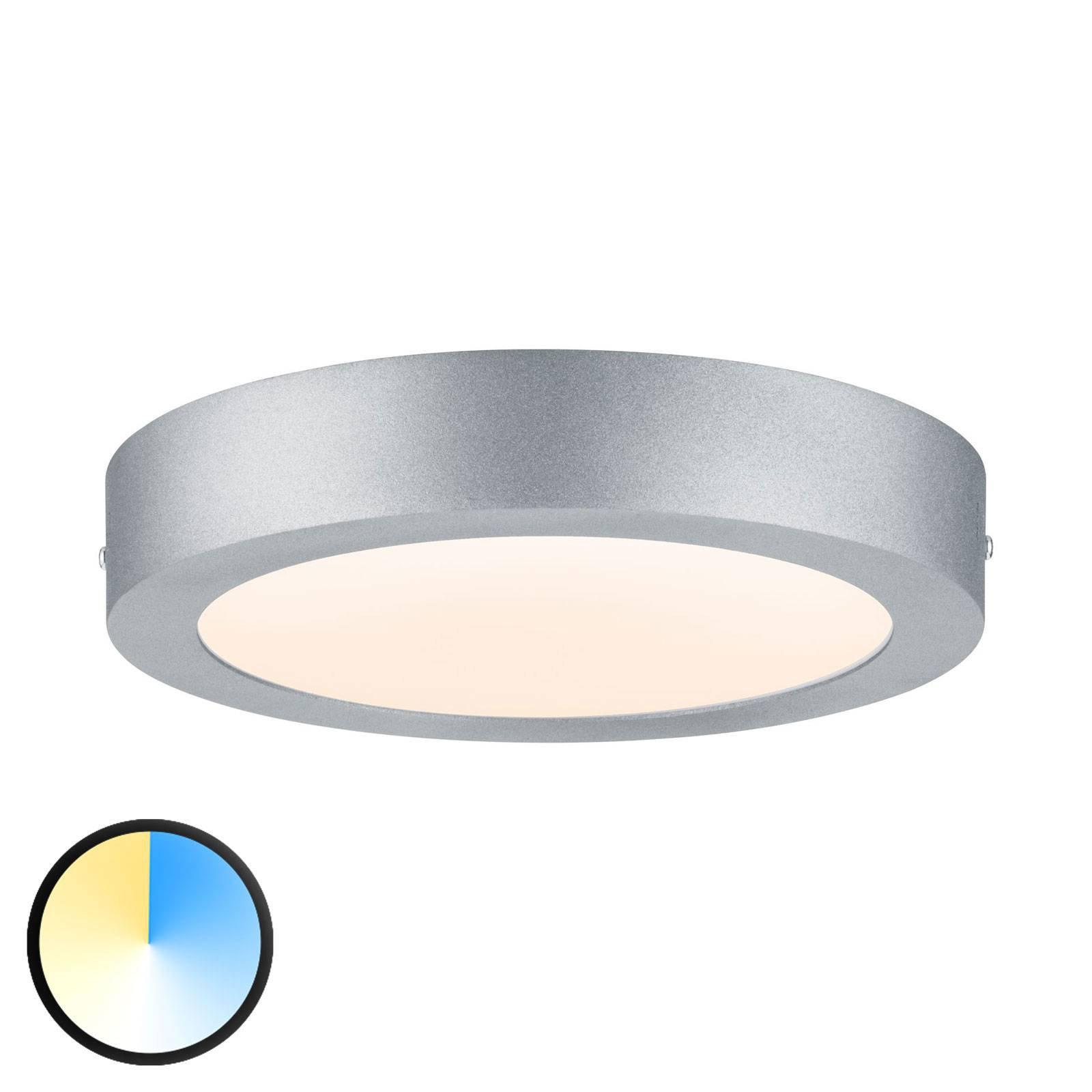 Paulmann Carpo LED-taklampe rund krom 22,5 cm