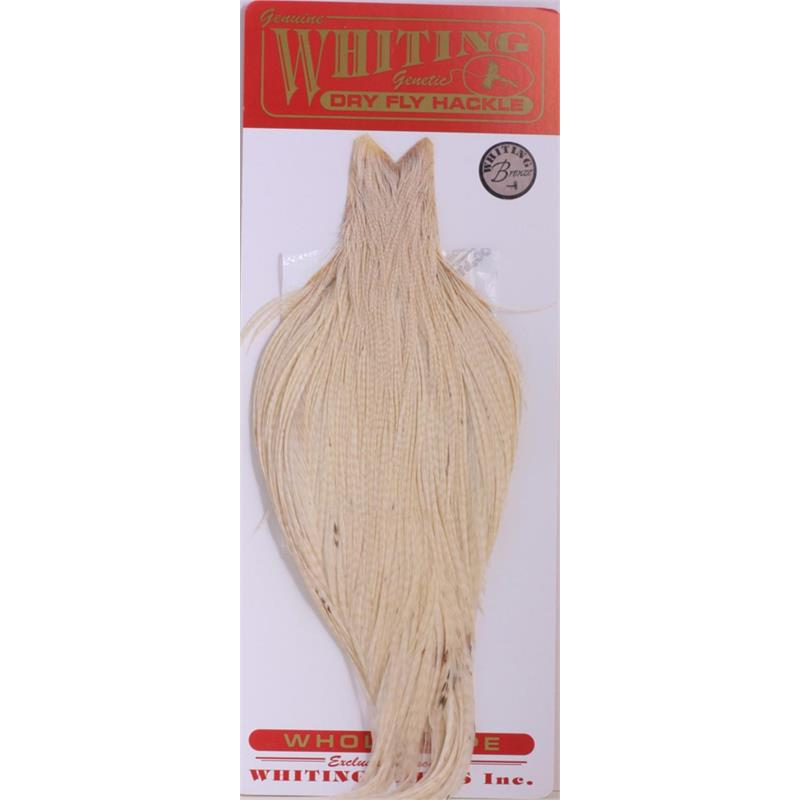 Whiting Dry Fly Cape - White Bronsegradering