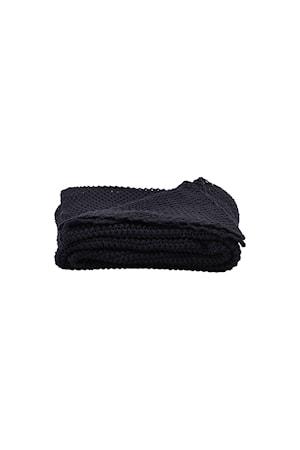 Filt Solid 170x130 cm Blå/svart