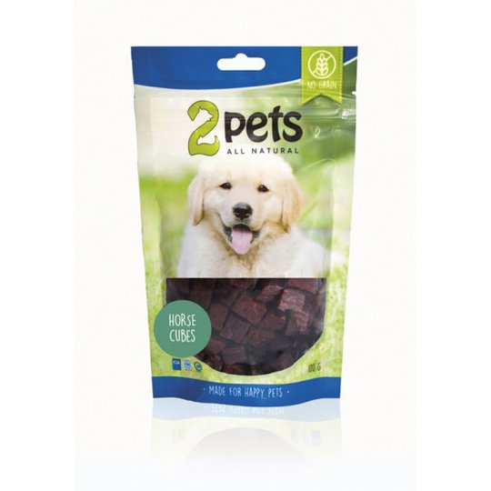 2pets Dogsnack Horse Cubes (100 g)