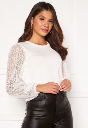 Happy Holly Laila lace sweater Offwhite 32/34