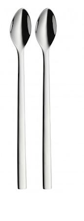 Nuova isskje blank stål 22 cm 2-pakk