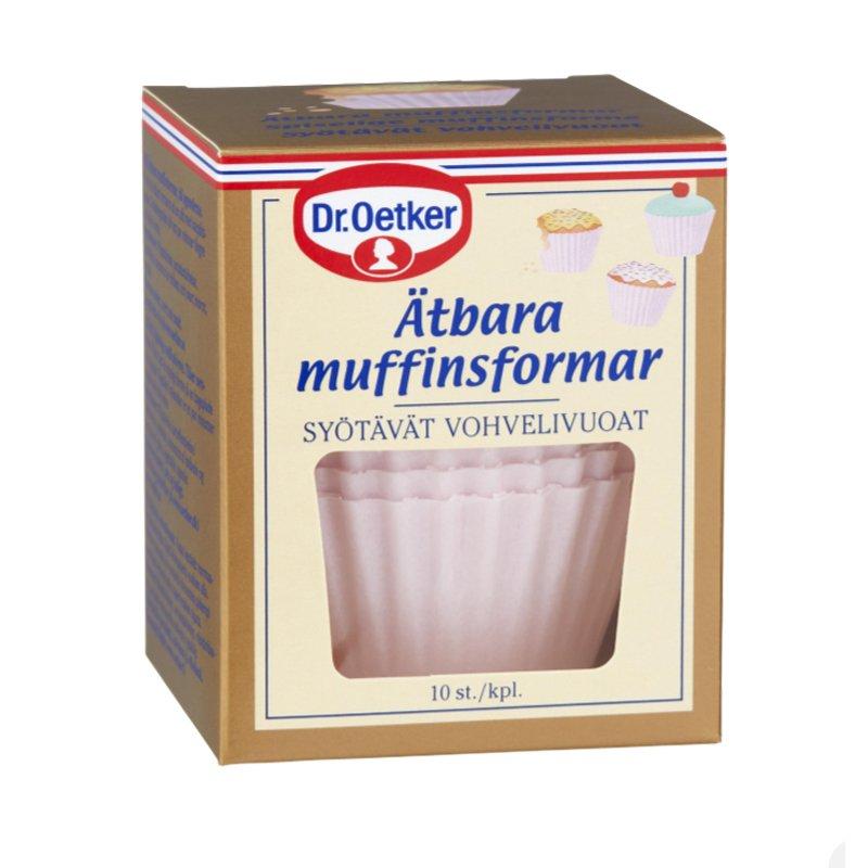 Muffinvuoka, syötävä, vaaleanpunainen 10 kpl - 51% alennus