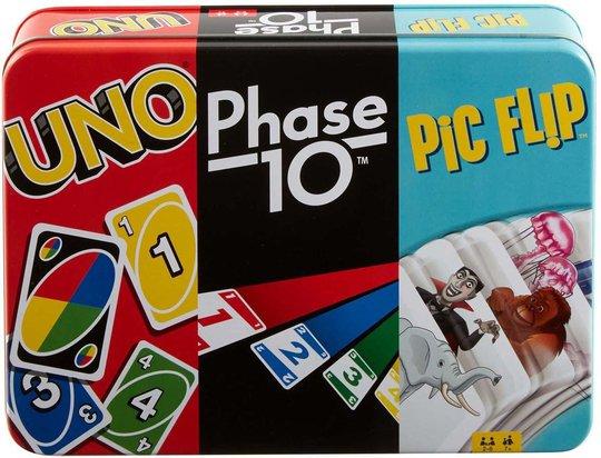 Mattel Spill 3-i-1 UNO, Phase og Pic Flip
