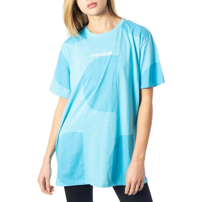 Desigual Women's T-Shirt Light Blue 170019 - light blue M