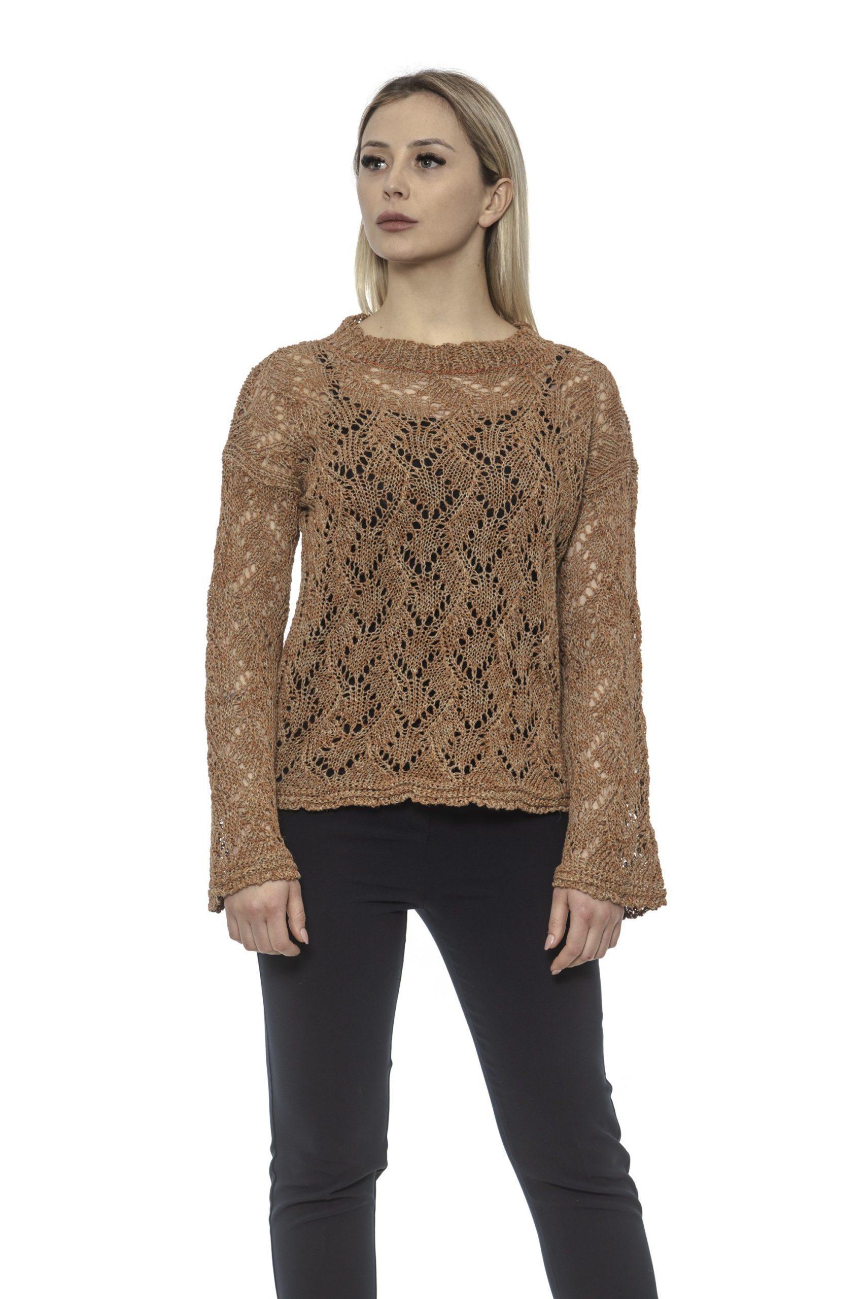 Alpha Studio Women's Paprika Sweater Brown AL1375099 - IT40 | XS
