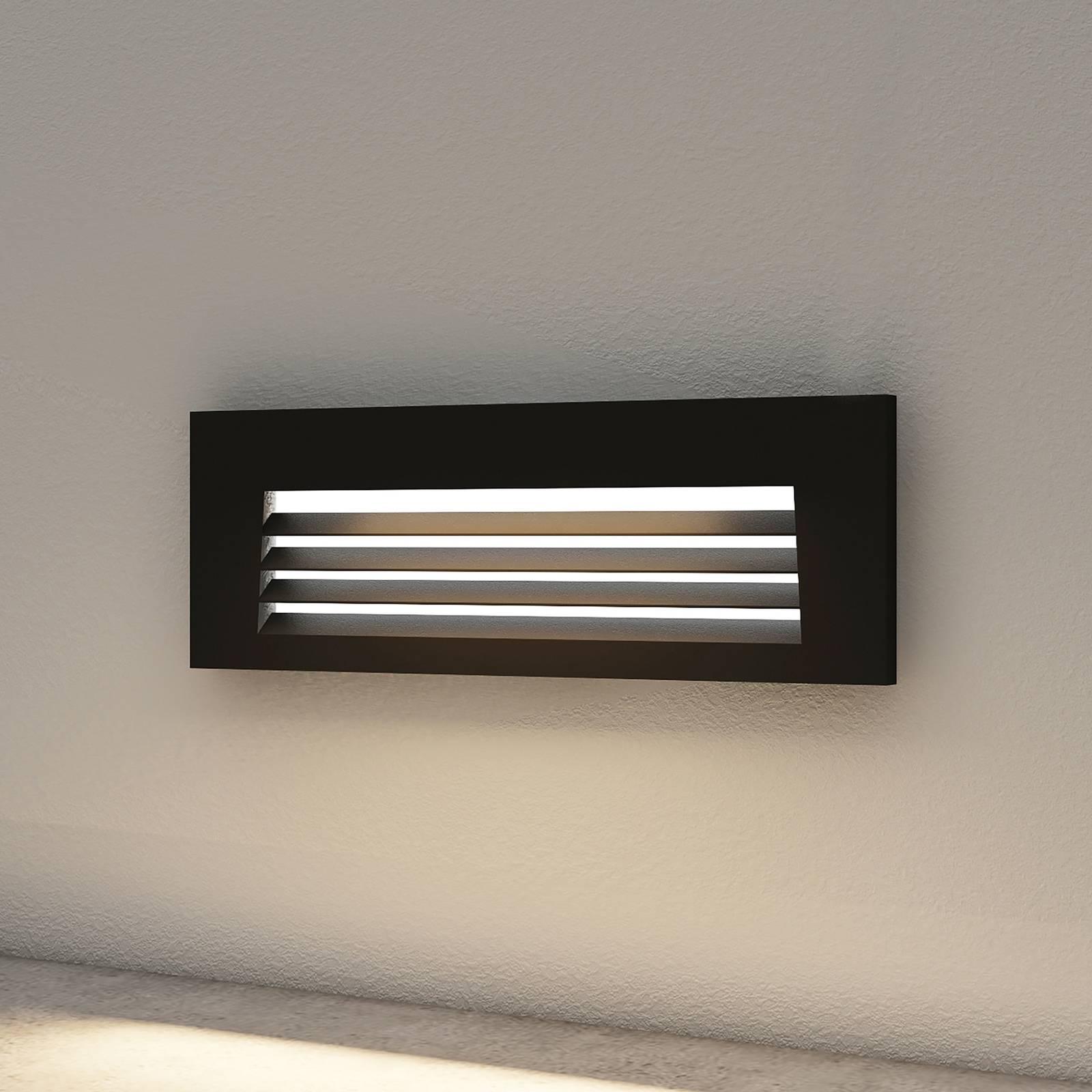 Arcchio Javis -LED-uppovalaisin, rasteri, musta