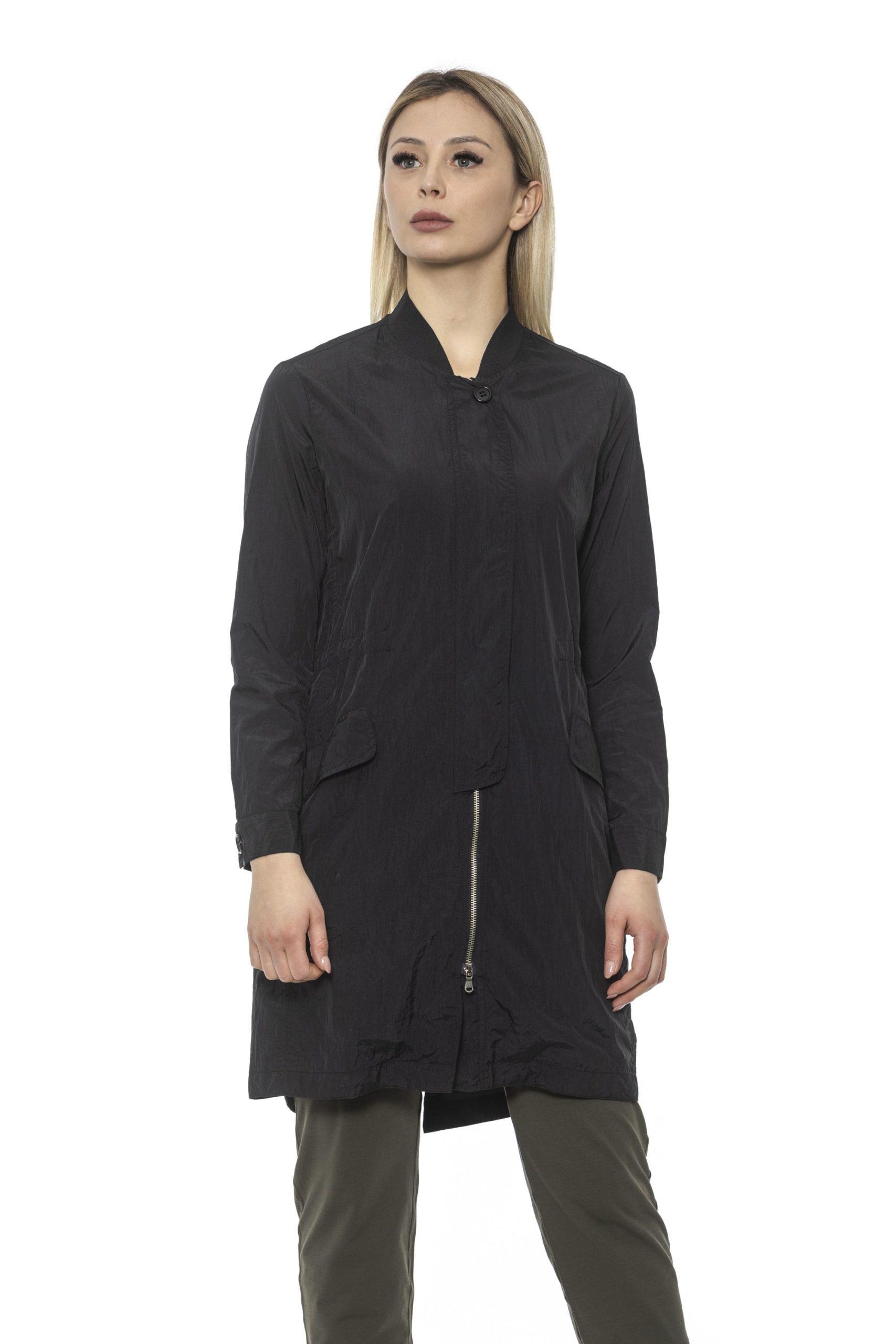 Alpha Studio Women's Nero Coat Black AL1374707 - IT40 | XS