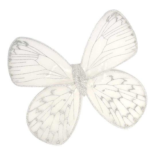 Fjärilsvingar Vit/Silver Barn - One size
