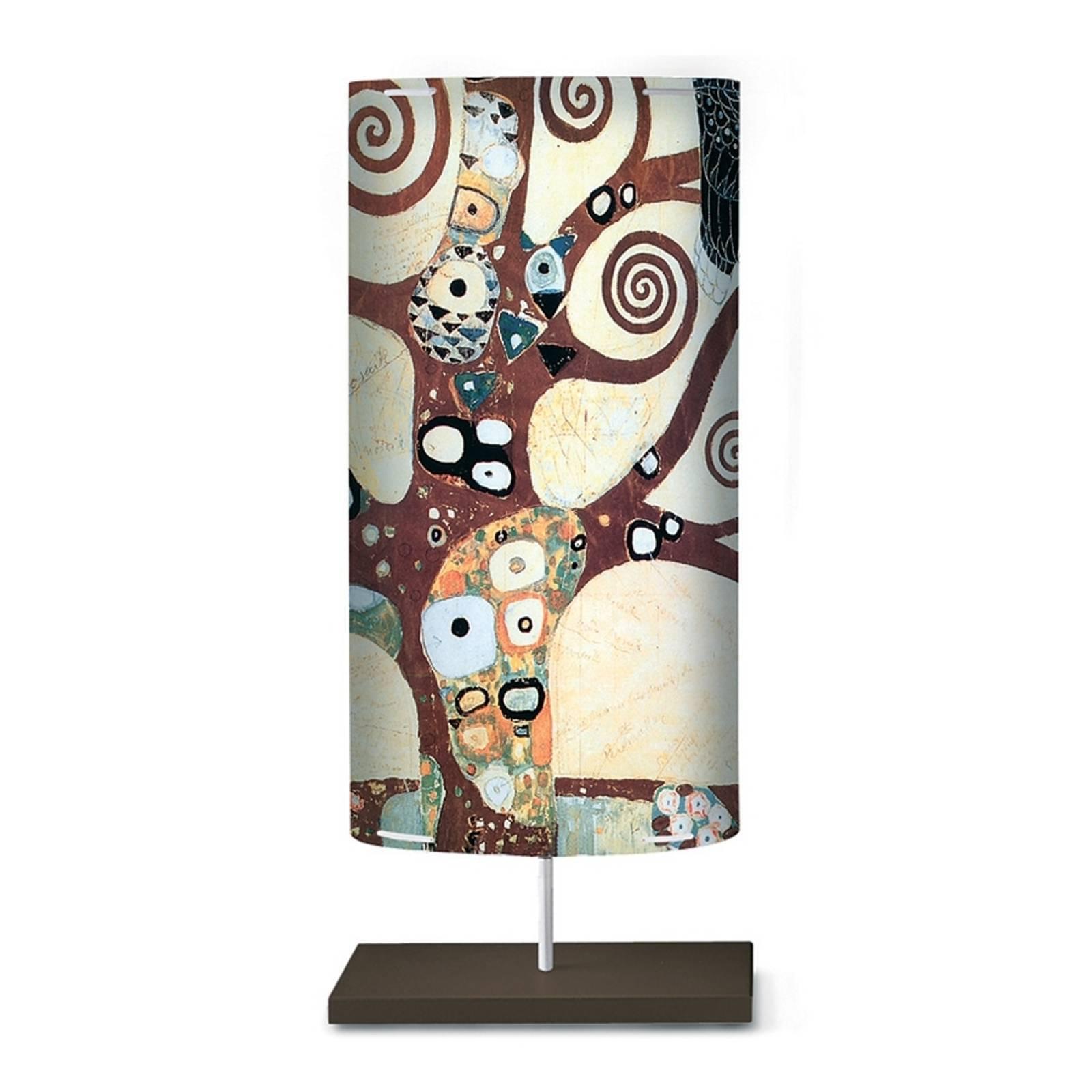 Stålampen Klimt I med kunstmotiv
