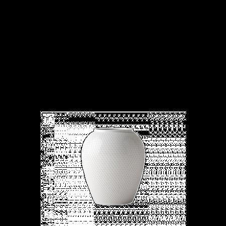 Rhombe Vase Hvit Porselen 16,5cm