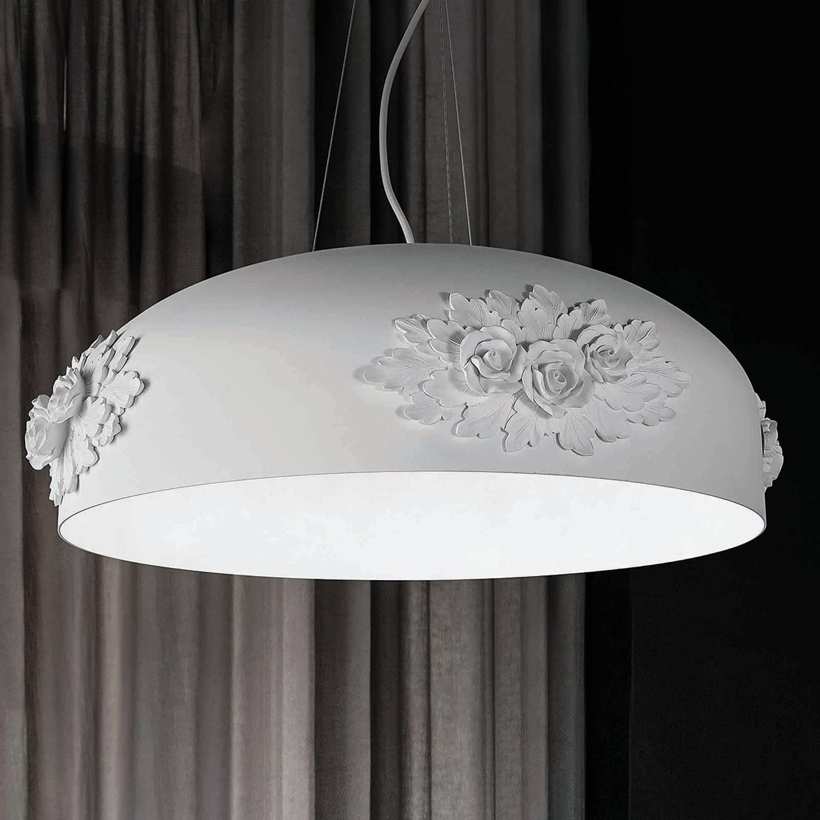 LED-riippuvalaisin Dame, valkoinen, 65 cm