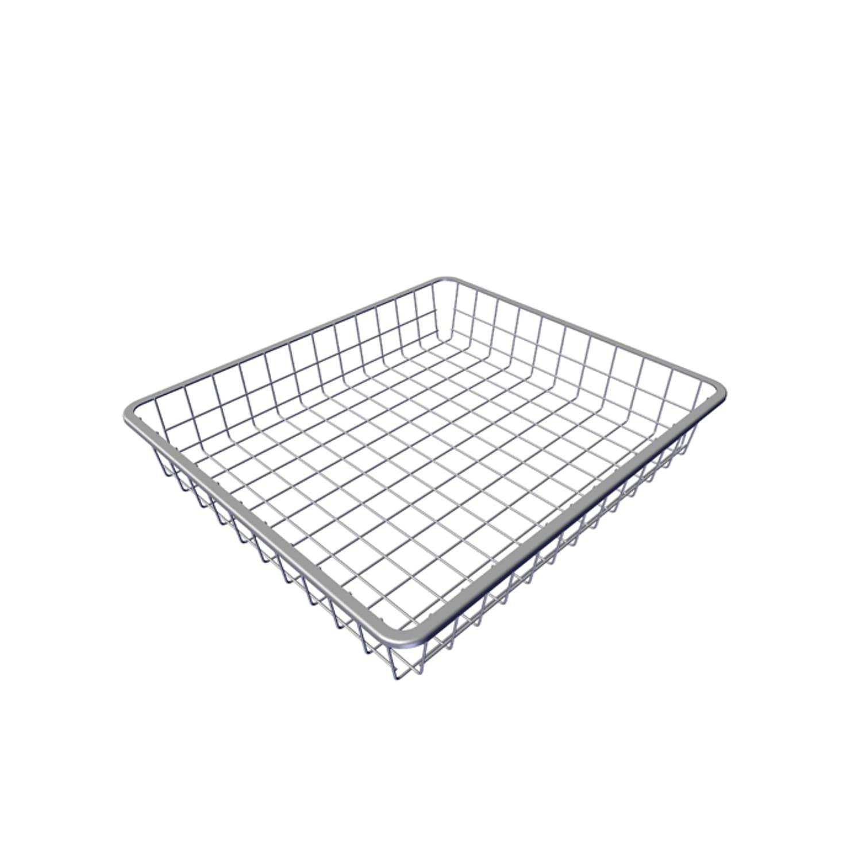 Pelly System Trådback 85 mm hög, lackad tråd Sølv, 40